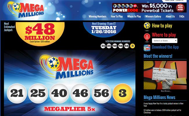 mega millions usa loterij